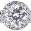 2.02 ct. Round Cut Halo Ring, H, SI2 #4