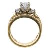 0.95 ct. Round Cut Bridal Set Ring, E-F, I2 #3