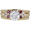1.13 ct. Round Cut Bridal Set Ring, H, I2 #3