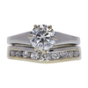 0.95 ct. Round Cut Bridal Set Ring, F-G, I1 #1