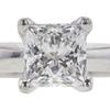 1.07 ct. Princess Cut Solitaire Ring, E, VS2 #4