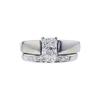 1.20 ct. Radiant Cut Bridal Set Ring, F, VS2 #3