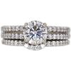 1.22 ct. Round Cut Bridal Set Ring, I, SI1 #3