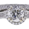 1.01 ct. Round Modified Brilliant Cut Bridal Set Ring, G, SI2 #4