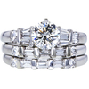 1.03 ct. Round Cut Bridal Set Ring, K, SI1 #3