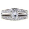 0.72 ct. Princess Cut Bridal Set Ring, G-H, VS1-VS2 #1