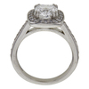 1.71 ct. Cushion Cut Halo Ring, F, SI1 #4