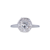 0.76 ct. Round Cut Halo Ring, H, VS1 #3