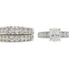 0.91 ct. Oval Cut Bridal Set Ring, E, VS2 #3