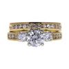 0.95 ct. Round Cut Bridal Set Ring, E-F, I2 #2