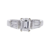 1.0 ct. Emerald Cut 3 Stone Ring, E, VS1 #3