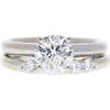 1.07 ct. Round Cut Bridal Set Ring, G, SI1 #3