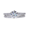 0.97 ct. Round Cut Bridal Set Ring, H-I, I1 #2