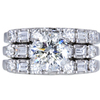 1.45 ct. Round Cut Bridal Set Ring, I-J, I1 #1