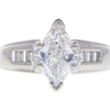 1.06 ct. Marquise Cut Solitaire Ring, E-F, I1 #1