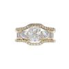 1.52 ct. Radiant Cut Bridal Set Ring, G, IF #3