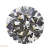 2.50 ct. Round Cut Stud Earrings, K, SI1 #3