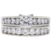 0.71 ct. Princess Cut Bridal Set Ring, F-G, VS1 #1