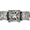 1.09 ct. Princess Cut 3 Stone Ring #1