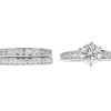 1.53 ct. Round Modified Brilliant Cut Bridal Set Ring, J, VS2 #3