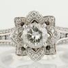 0.73 ct. Round Cut Bridal Set Ring #3
