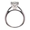 Antique GIA 1.46 ct. Princess Cut Bridal Set Ring #3