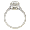 1.03 ct. Cushion Cut Bridal Set Ring, K, VVS1 #3