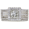 1.13 ct. Princess Cut Halo Ring, H, SI1 #3