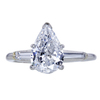 1.54 ct. Pear Cut 3 Stone Ring, D, SI2 #3