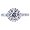 1.01 ct. Round Cut Halo Ring, G, I1 #1