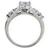 0.83 ct. Round Cut Bridal Set Ring, F, SI1 #3