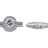 1.43 ct. Round Cut Bridal Set Ring, E-F, I1 #2