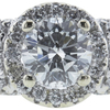 0.90 ct. Round Cut Halo Ring, G, I1 #4