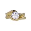 1.13 ct. Round Cut Bridal Set Ring, F, VS1 #3