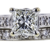 1.22 ct. Princess Cut Bridal Set Ring, J, SI1 #4