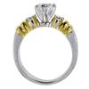0.86 ct. Round Cut Bridal Set Ring, F-G, SI2-I1 #3