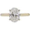 1.73 ct. Oval Cut Solitaire Ring, G, SI2 #3