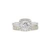 1.32 ct. Round Cut Bridal Set Ring, G, VS2 #3