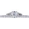 2.12 ct. Cushion Cut Bridal Set Ring, F, VS2 #3