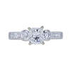 1.02 ct. Radiant Modified Cut 3 Stone Ring, F, SI2 #4