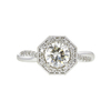 1.0 ct. Round Cut Halo Ring, K, SI2 #2