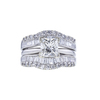 Art Deco GIA 1.50 ct. Princess Cut Bridal Set Ring, J, I1 #4