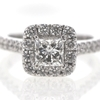 1.00 ct. Princess Cut Central Cluster Ring #1