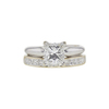 1.14 ct. Princess Cut Bridal Set Ring, F, VS2 #3