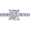 1.00 ct. Cushion Cut Solitaire Ring, G, VVS2 #3