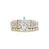 0.64 ct. Marquise Cut Bridal Set Ring, F, VS2 #3