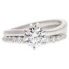 1.02 ct. Round Cut Bridal Set Ring, E, VS1 #3