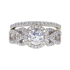 0.8 ct. Round Cut Bridal Set Ring, I, SI2 #3