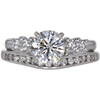 1.0 ct. Round Cut Bridal Set Ring, G, SI1 #3