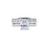 1.33 ct. Oval Cut Bridal Set Ring, G, I1 #3